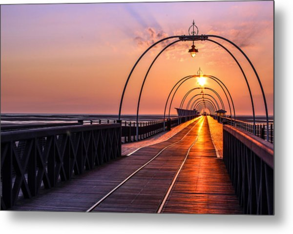 Southport Pier Metal Print by Paul Madden