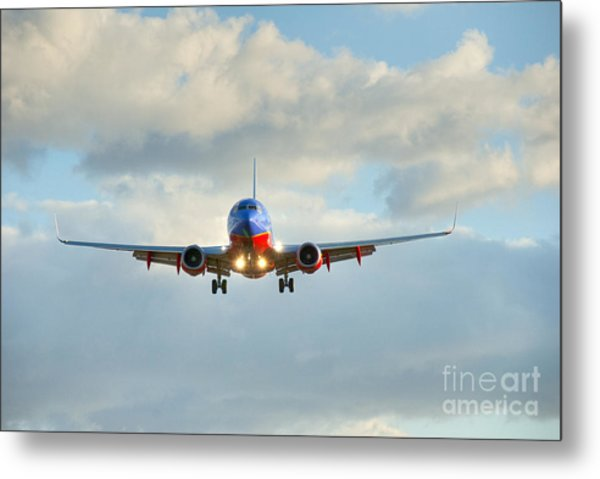 Southwest Airline Landing Gear Down Metal Print
