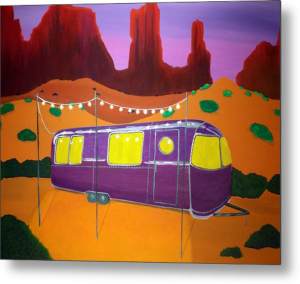 Southwest Contemporary Art - Sedona Twilight Metal Print