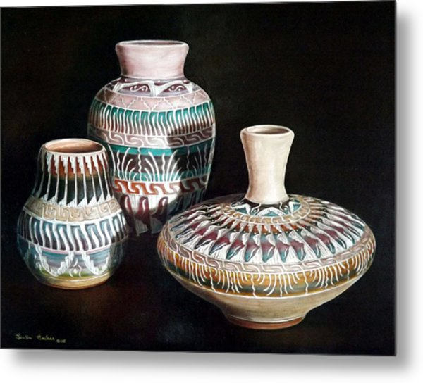 Southwest Pottery Metal Print