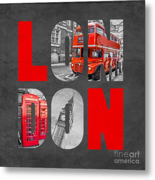 Souvenir Of London Metal Print