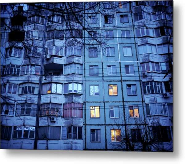 Soviet-era Housing In Transnistria Metal Print by Amos Chapple