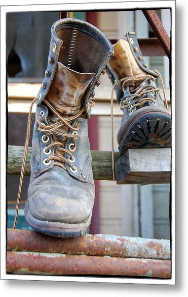 Sp Boots Metal Print