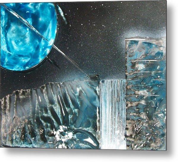 Space-fall Metal Print