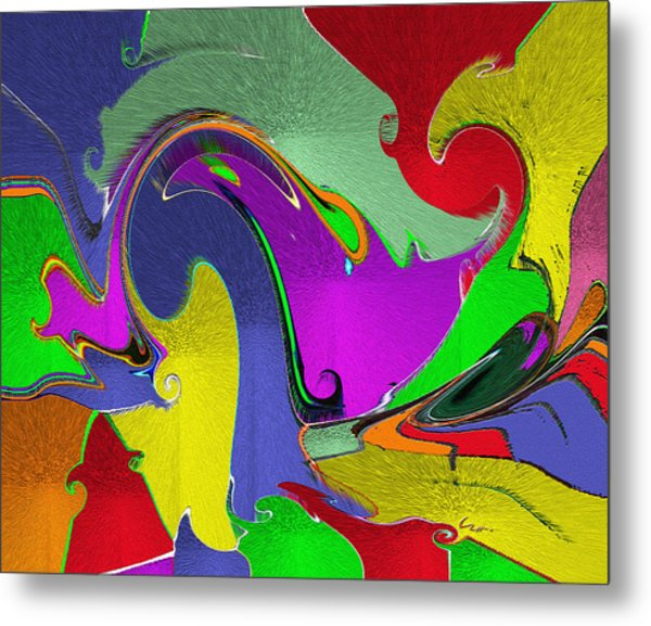 Space Interface Metal Print