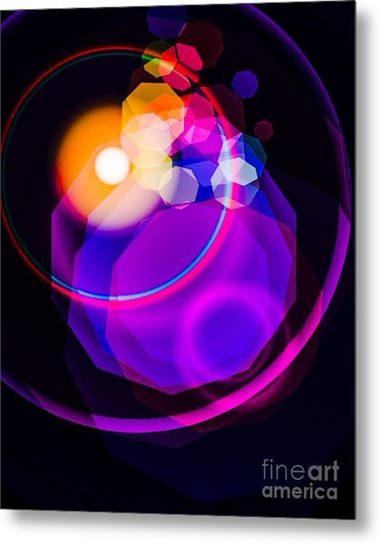 Space Orbit Metal Print