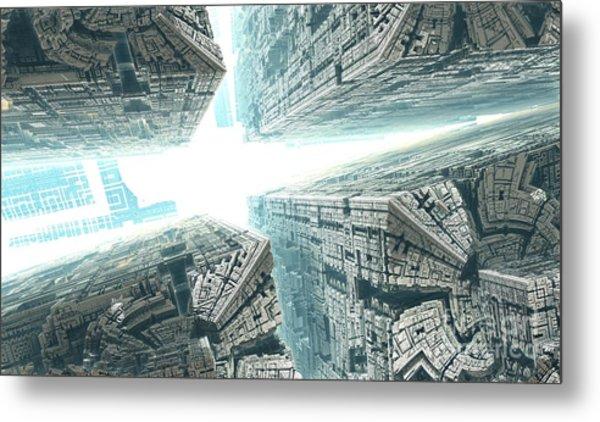 Space Travel Metal Print by Bernard MICHEL