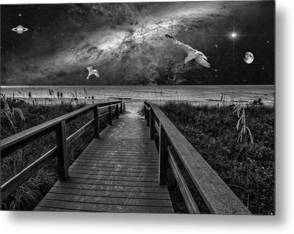 Space Walkway Metal Print