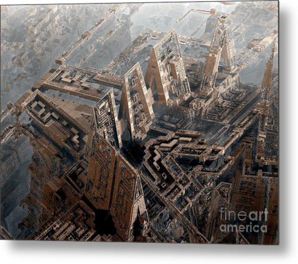 Spaceport Metal Print by Bernard MICHEL