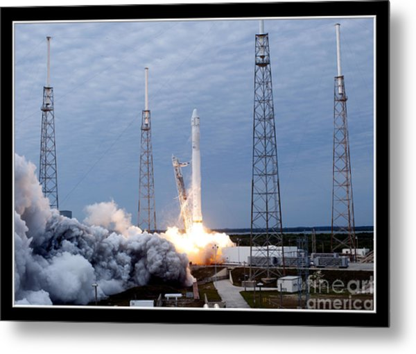 Spacex-2 Mission Launch Nasa Metal Print