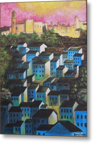 Little Town Of Spain Metal Print
