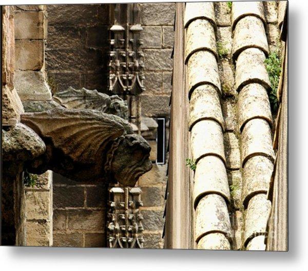 Spain - Seville Cathedral - Gargoyles Metal Print by Jacqueline M Lewis