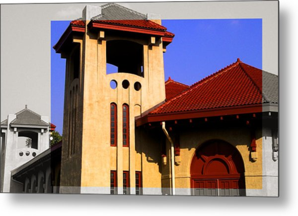 Spanish Architecture Tile Roof Tower Metal Print