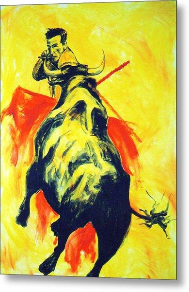 Spanish Bullfight Metal Print
