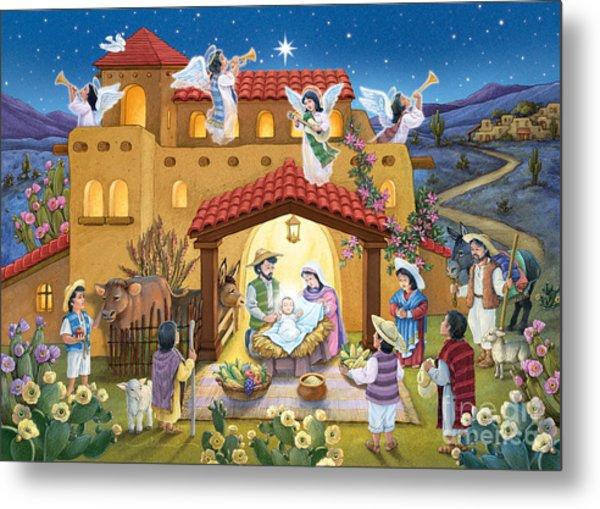 Spanish Nativity Metal Print