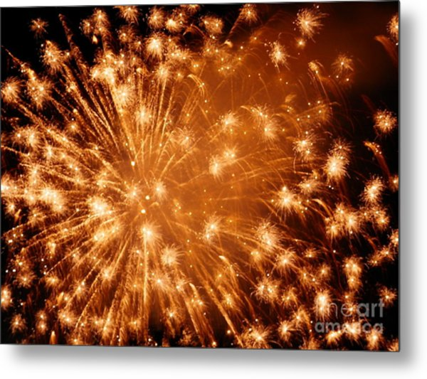 Sparkle Fireworks By Aclay Metal Print