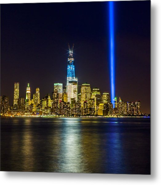 Sparkling Freedom Tower Metal Print by Chris Halford
