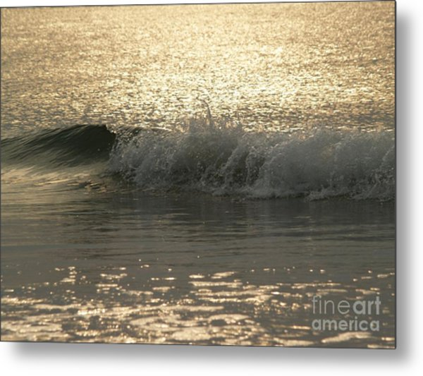 Sparkling Sea In Hunting Island Dawn Metal Print
