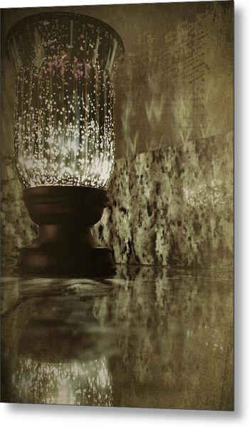 Sparkly Candleholder Metal Print