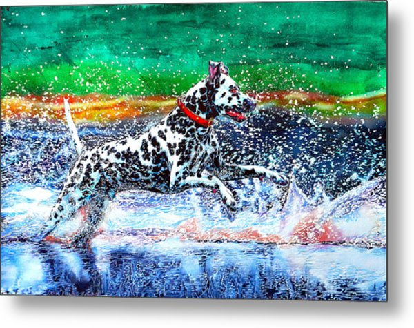 Metal Print featuring the painting Sparky by Xavier Francois