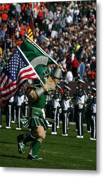 Sparty At Football Game Metal Print