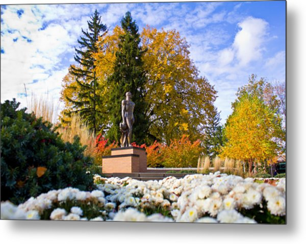 Sparty In Autumn  Metal Print