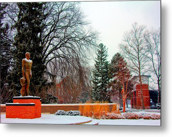 Sparty In Winter  Metal Print