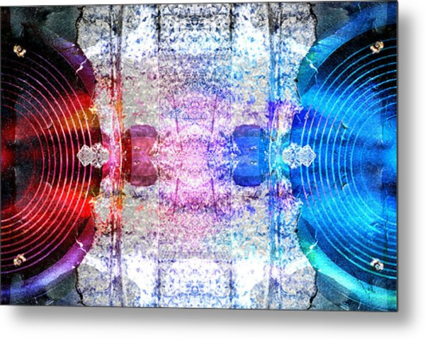 Speakers 3 Metal Print