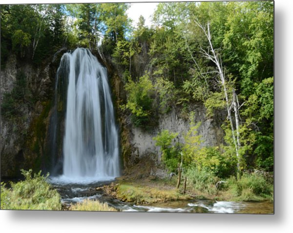 Spearfish Falls In Early September Metal Print