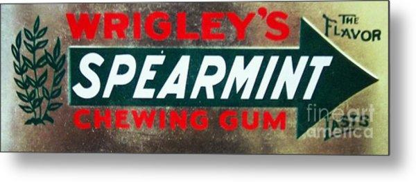 Spearmint Gum Sign Vintage Metal Print