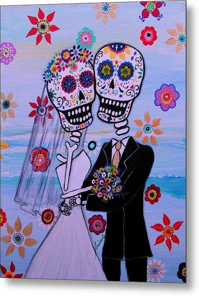 Special Day Dia De Los Muertos Wedding Metal Print