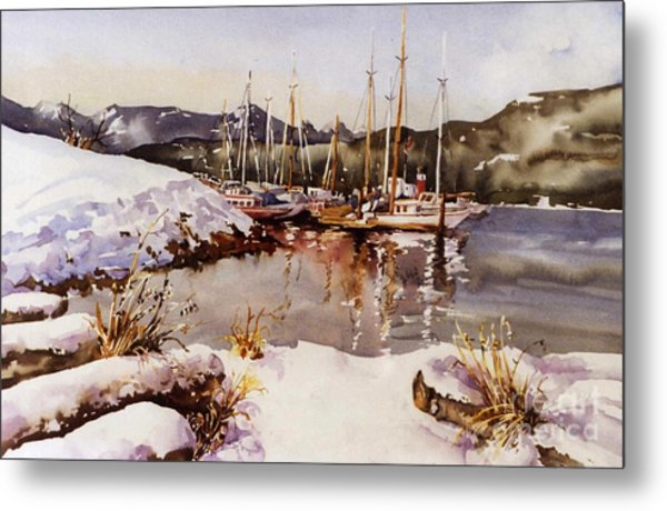 Special Winter In Vancouver Metal Print by Marta Styk