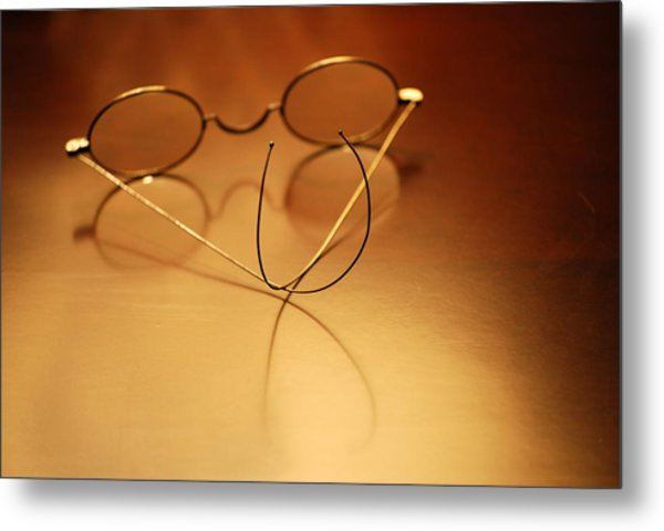Spectacles At Rest Metal Print