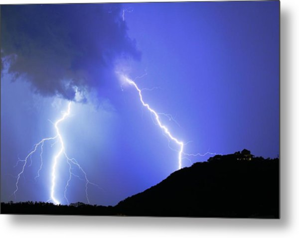 Spectacular Double Lightning Strike Metal Print