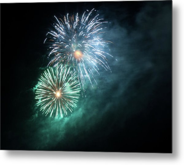 Spectacular Fireworks Metal Print by Zeiss4me