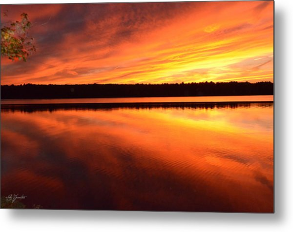 Spectacular Orange Mirror Metal Print