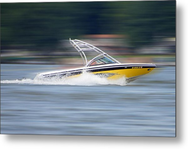 Speed Boat Metal Print by Thomas Fouch