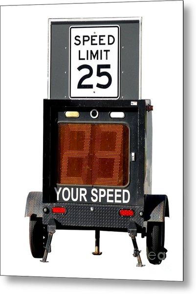 Speed Limit Monitor Metal Print