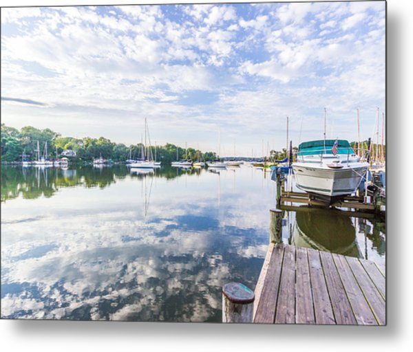 Speedboat On The Magothy River Metal Print