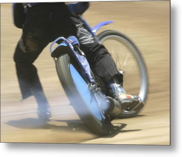 Speedway Slide Metal Print