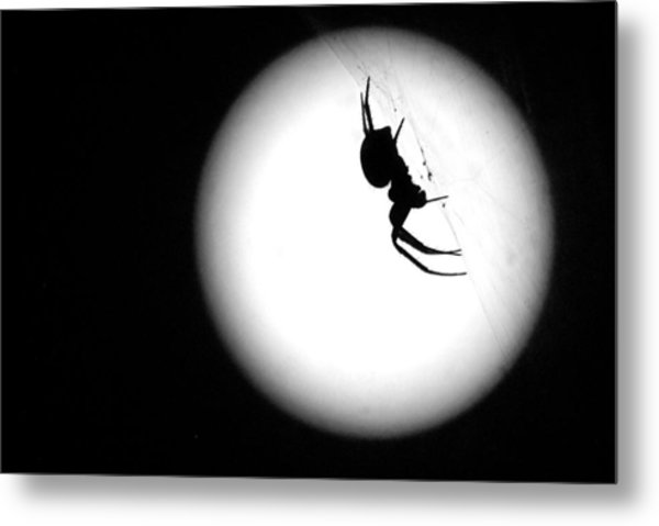Spider Moon Metal Print