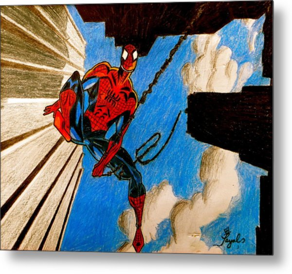 Spiderman Metal Print by Artistic Indian Nurse