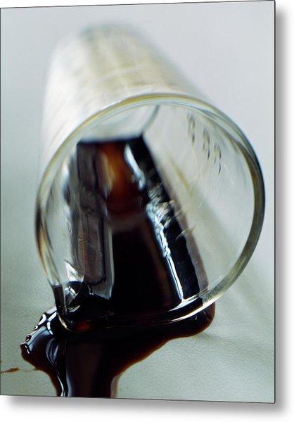 Spilled Balsamic Vinegar Metal Print
