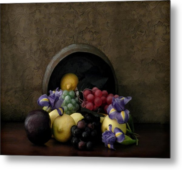 Metal Print featuring the photograph Spilled Fruit by Grace Dillon