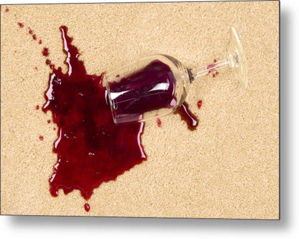 Spilled Wine On Carpet Metal Print