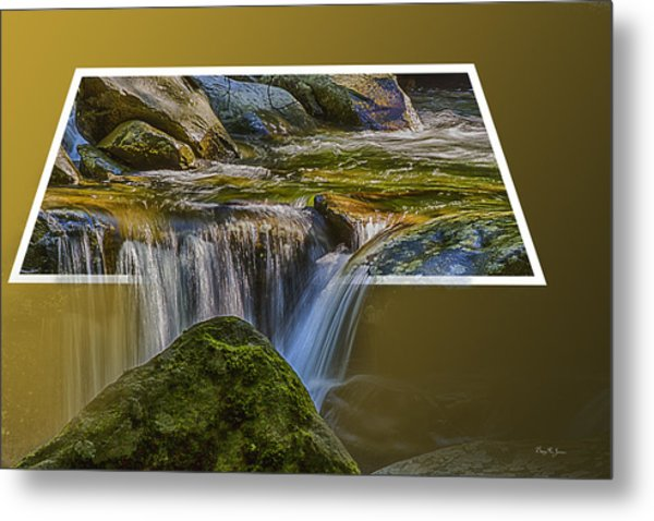 Landscape - Mountain - Spillover  Metal Print