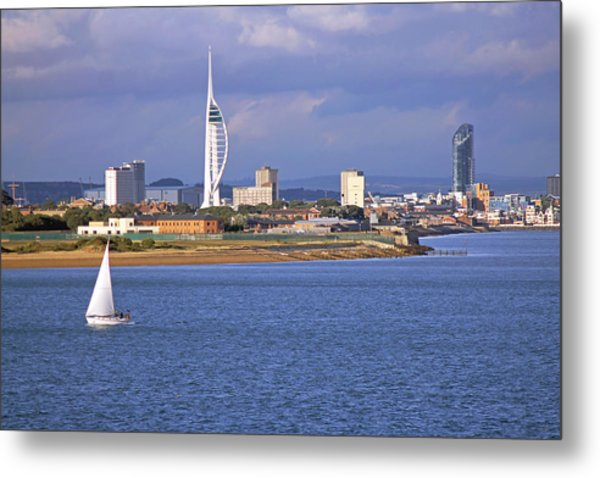 Spinnaker Tower And Gunwharf Quays Metal Print