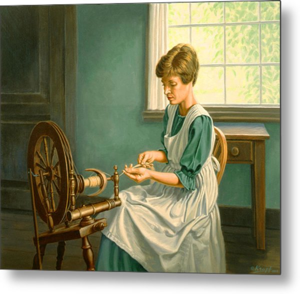 Spinning At The Homestead Metal Print