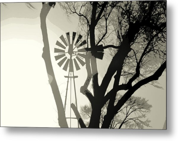 Spinning Inside Metal Print