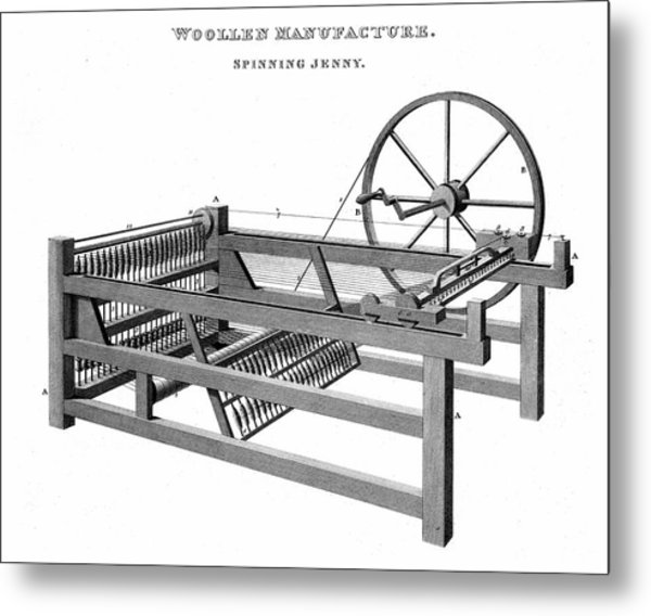 Spinning Jenny Metal Print